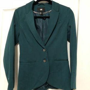 H&M forest green blazer